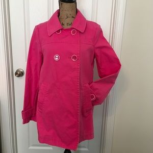 GAP Hot Pink Trench Coat